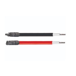 2 X 5 M cables solaires 6 mm2 rouge et noir avec MC4