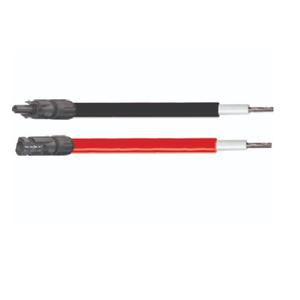 2 cables solaires de 10M noir et rouge 6mm²