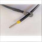 Câble avec embout droit batterie - regulateur 16mm² 1 cosse M8 noir